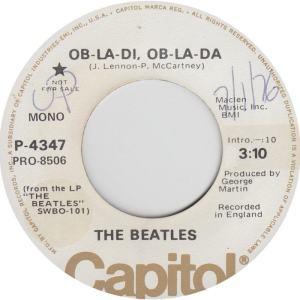Beatles - Capitol 4347 DJ - Ob La Di Mono