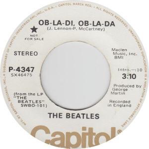 Beatles - Capitol 4347 DJ - Ob La Di Stereo