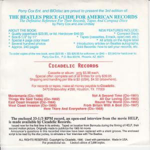 Beatles Help Open Int PS 2