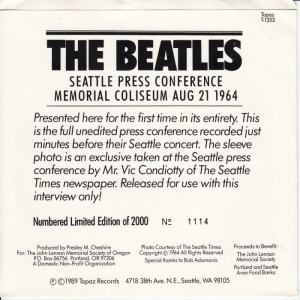 Beatles Press Conference PS F