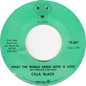 BLACK CILLA - WORLD NEEDS NOW A