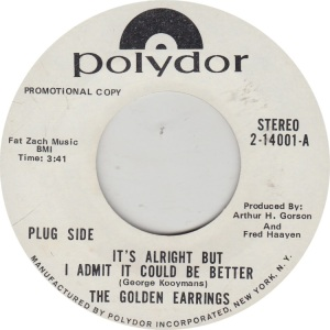 GOLDEN EARRINGS - POLYDOR 14001 DJ A