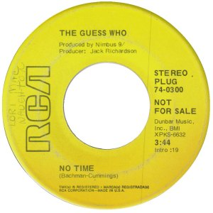 GUESS WHO - NO TIME DJ