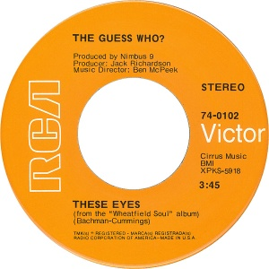 GUESS WHO - THESE EYES