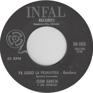 Infal 105 - Garcia, Clem - Llegro