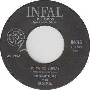 Infal 115 - Lopez, Baltazar - Tu Ya No Soplas