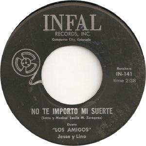 Infal 141 - Jesse and Lino - No Te Importo Mi Suerte
