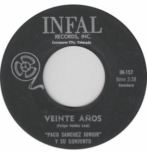 INFAL 157 - SANCHEZ JR PACO - A