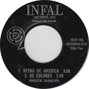 Infal 169 EP - Mariachi Guadalupe - Reyna De America