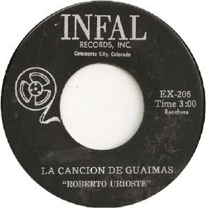 Infal 206 - Urioste, Roberto - La Cancion de Guaimas