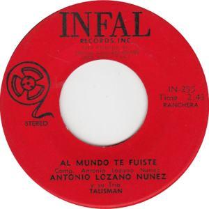 Infal 255 - Nunez, Antonio - Al Mundo Te Fuiste