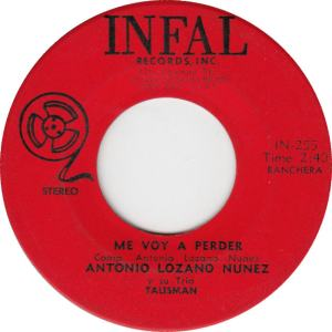 Infal 255 - Nunez, Antonio - Me Voy a Perder