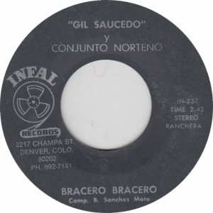 INFAL 257 - SAUCEDO - BRACERO