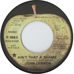 Lennon - ain't that shame DJ 1