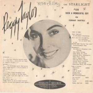 Taylor, Peggy - Starlite 1378 PS - Such a Wonderful Guy