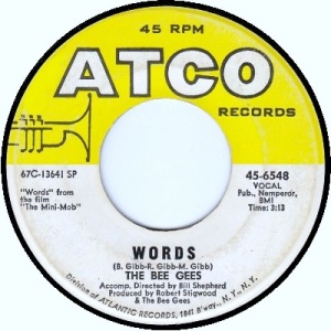 the-bee-gees-words-atco