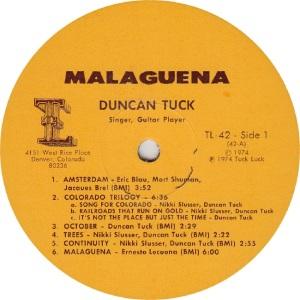 TUCK DUNCAN - TUCK LUCK 42 - RA