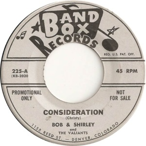 Bob & Shirley - Band Box 225 - 60 A