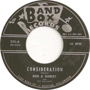 Bob & Shirley - Band Box 225 - 60 AV