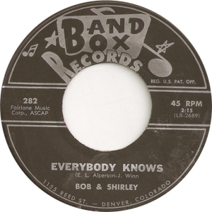 Bob & Shirley & Saints - Band Box 282 - B