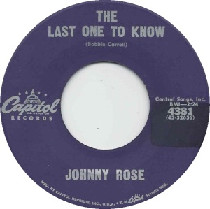 CAPITOL 4381 - ROSE JOHNNY - A