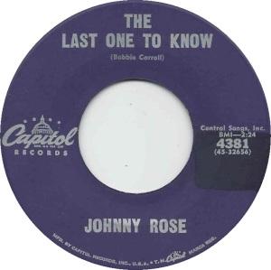 CAPITOL 4381 - ROSE JOHNNY - A