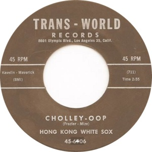 HONG KONG WHITE SOX - TRANS WORLD 6906
