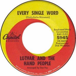 Lothar - Capitol 5945 - 67 B
