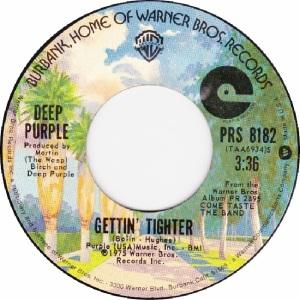 WARNER BROS 1976 8182 - DEEP PURPLE BOLIN - A