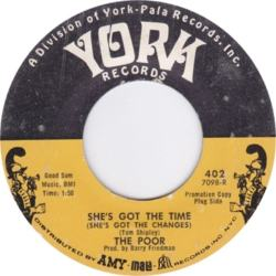 York 402 - Poor - She's Got the Time DJ 1967 R