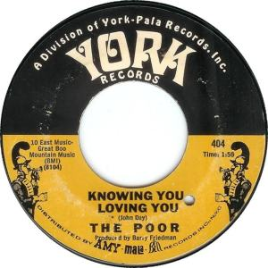 York 404 - Knowing You Loving You 1967 R