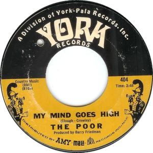 York 404 - Poor - My Mind Goes R
