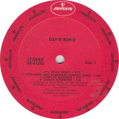 BOWIE DAVID - MERCURY 61246 RA