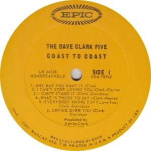 CLARK FIVE - COAST A