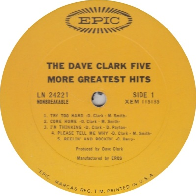 CLARK FIVE - MORE GREATEST A