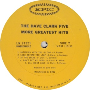 CLARK FIVE - MORE GREATEST B