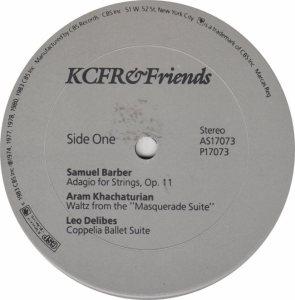KCFR & FRIENDS - CBS 17073 - RA