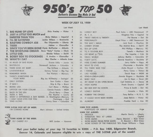 KIMN 1959 - 07-13 - B