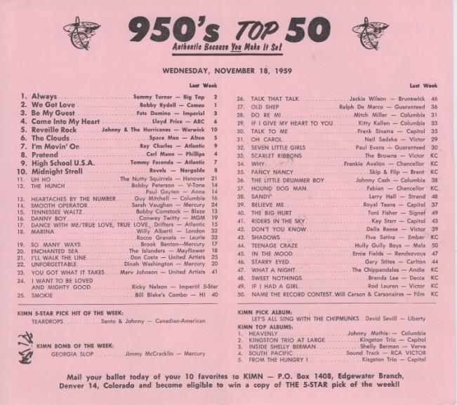 KIMN 1959 - 11-18 - B