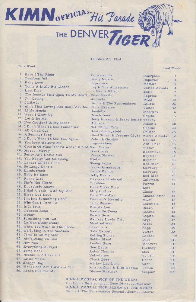 KIMN 1964 - 10-21-64 - B