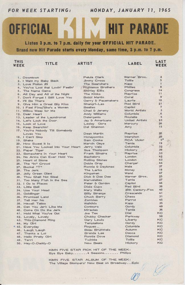 KIMN 1965 - 01-11-65 - B