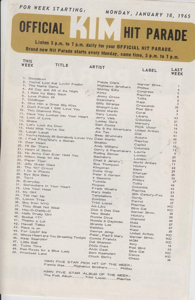 KIMN 1965 - 01-18-65 - B