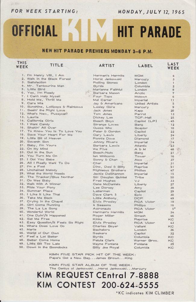 KIMN 1965 - 07-12-65 - B