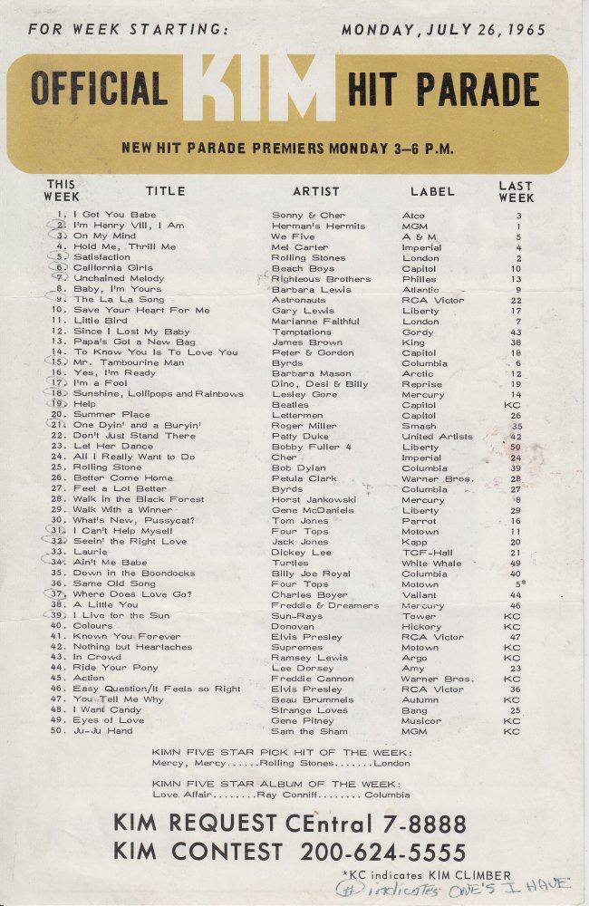 KIMN 1965 - 07-26-65 - B