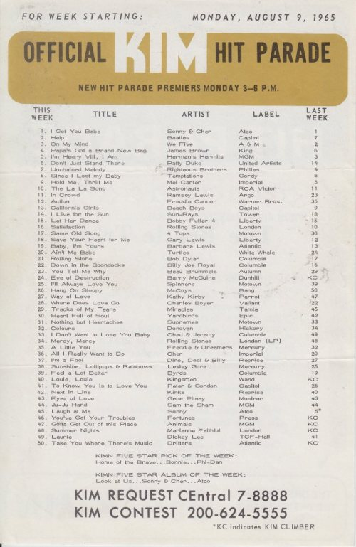 KIMN 1965 - 08-09-65 - B