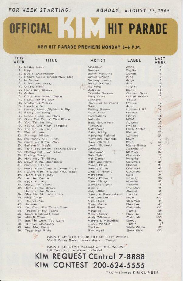 KIMN 1965 - 08-23-65 - B