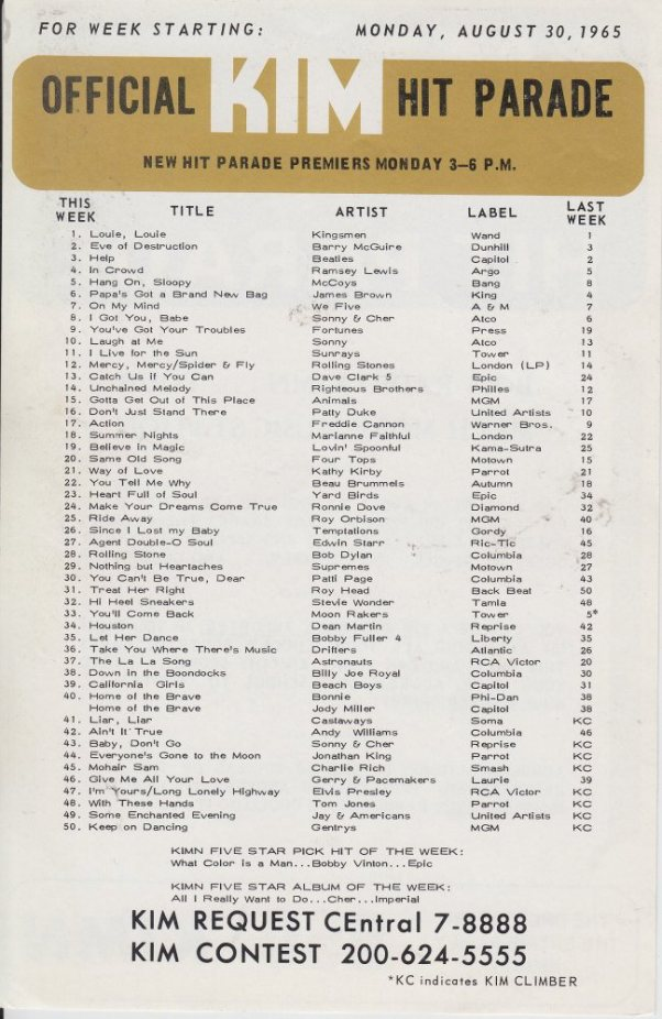 KIMN 1965 - 08-30-65 - B