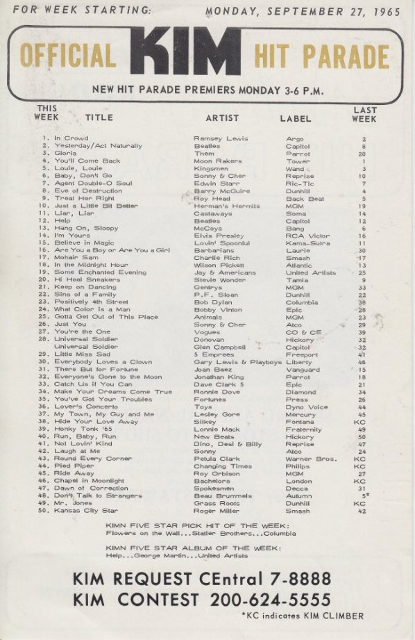 KIMN 1965 - 09-27-65 - B