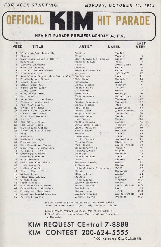 KIMN 1965 - 10-11-65 - B