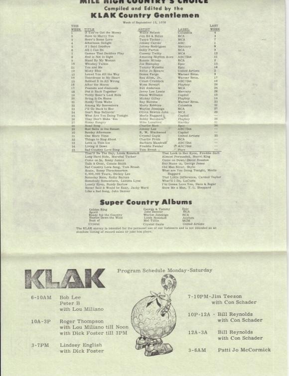 KLAK - 1976 - 09-13 F